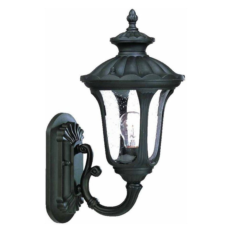 Acclaim Lighting Augusta Outdoor Wall Mount Light Fixture - 3841Bk in Acclaim Lighting Outdoor Wall Lights (Image 3 of 10)