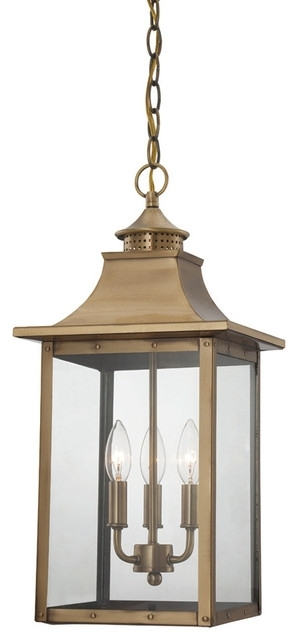 Acclaim Lighting - St. Charles Collection Hanging Lantern 3-Light pertaining to Houzz Outdoor Hanging Lights (Image 1 of 10)