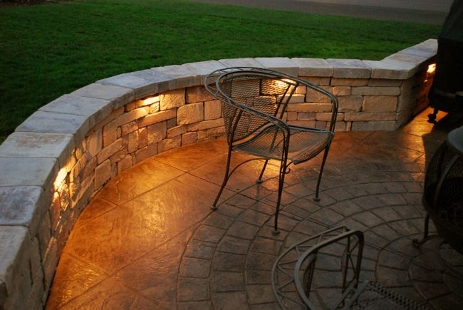 Adding Lights Into Sitting Wall.. | Outdoor Spaces | Pinterest within Outdoor Wall Patio Lighting (Image 1 of 10)