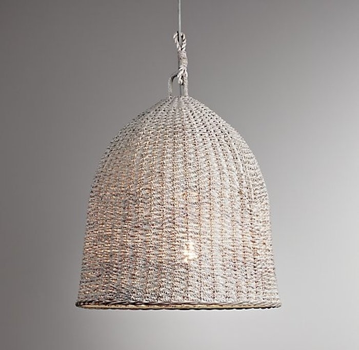 Adorable Wicker Pendant Light Highlow A Trio Of Woven Wicker Pendant Regarding Outdoor Rattan Hanging Lights (View 3 of 10)