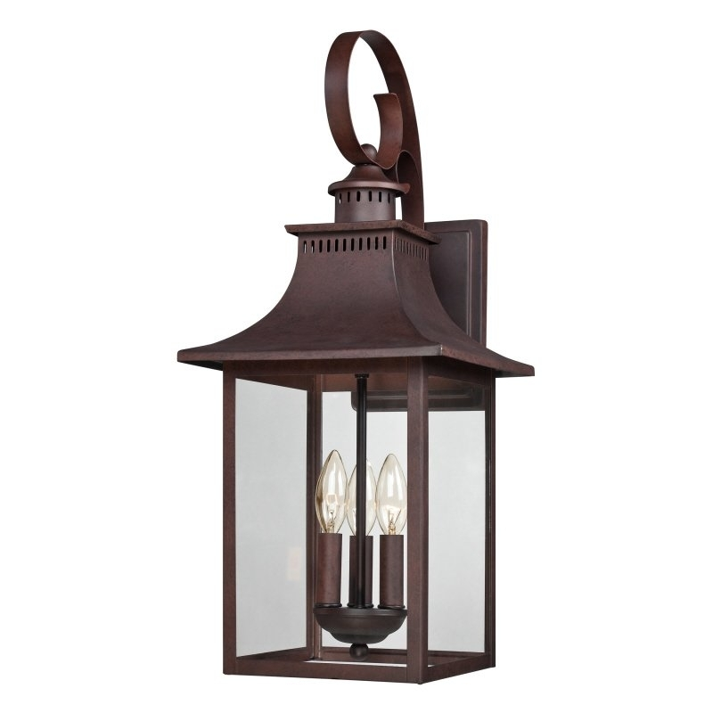 Alcott Hill Tewksbury 3-Light Outdoor Wall Lantern & Reviews | Wayfair with Outdoor Wall Lantern Lighting (Image 3 of 10)