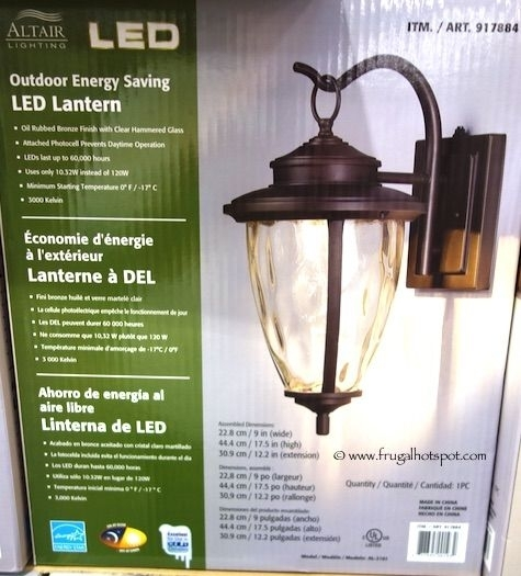 Altair Lighting Outdoor Energy Saving Led Lantern. #costco with regard to Costco Led Outdoor Wall Mount Lighting (Image 1 of 10)