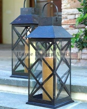 "Amazon: Extra Large 28"" X Colonial Candle Lantern Tabletop within Outdoor Hanging Lanterns For Candles (Image 5 of 10)"