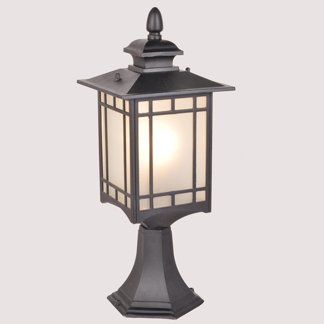 Antique Outdoor Wall Lamp Post Lights, Aluminum Die Casting Garden with regard to Outdoor Wall and Post Lighting (Image 2 of 10)