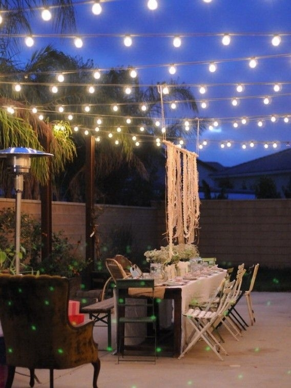 Appealing Outdoor Light With Hanging String : Fabulous Outdoor Patio regarding Hanging Outdoor Lights For A Party (Image 2 of 10)