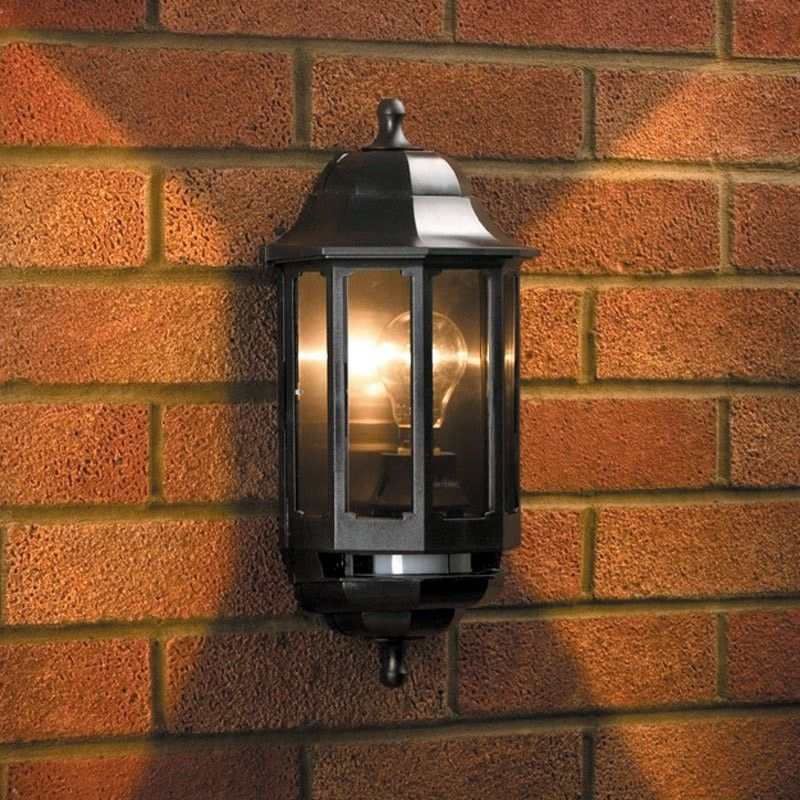 Asd Coach Half Lantern Outdoor Wall Light With Pir Sensor | Lighting within Half Lantern Outside Wall Lights (Image 1 of 10)