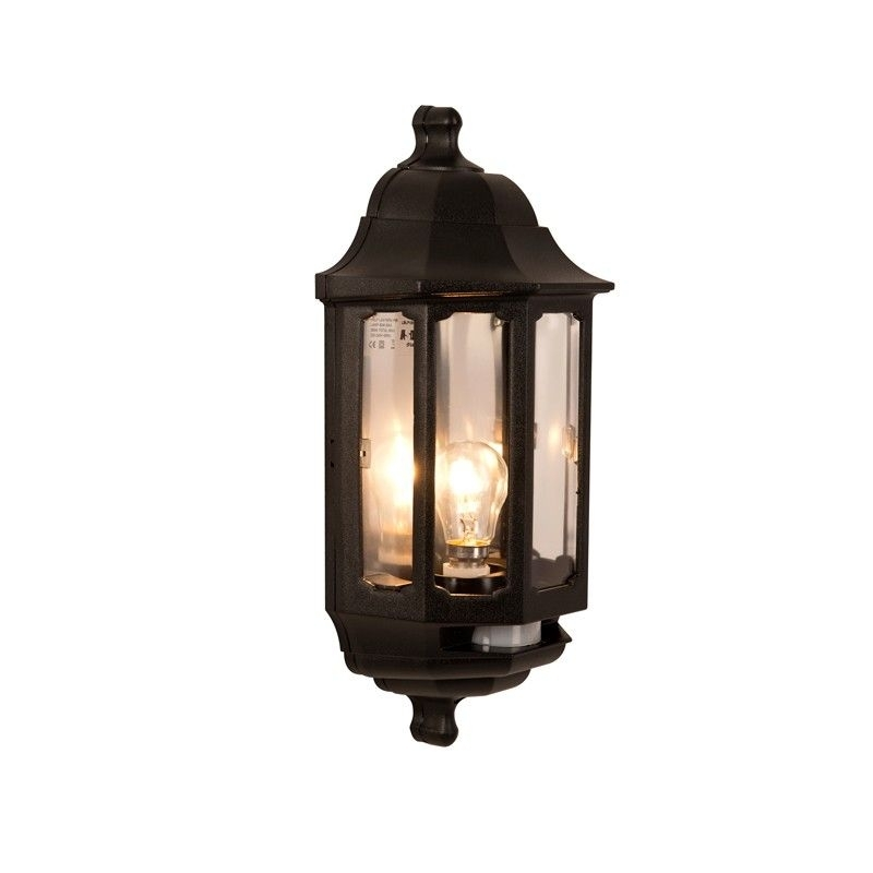 Asd Lighting Coach Half Lantern Outdoor Wall Light With Pir Sensor intended for Outdoor Wall Porch Lights (Image 2 of 10)