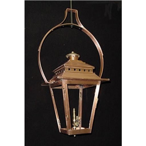 Ashley Street Yoke Mounted Hanging Outdoor Lantern - Gas Lanterns throughout Outdoor Hanging Gas Lanterns (Image 4 of 10)