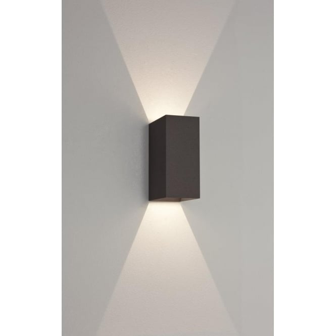 Astro 7061 | Oslo 160 2 Light Led Wall Light Ip65 Black within Black Outdoor Led Wall Lights (Image 2 of 10)
