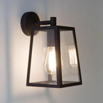 Astro 7105 Calvi Outdoor Wall Light In Black   Astro Lighting throughout Black Outdoor Wall Lighting (Image 1 of 10)