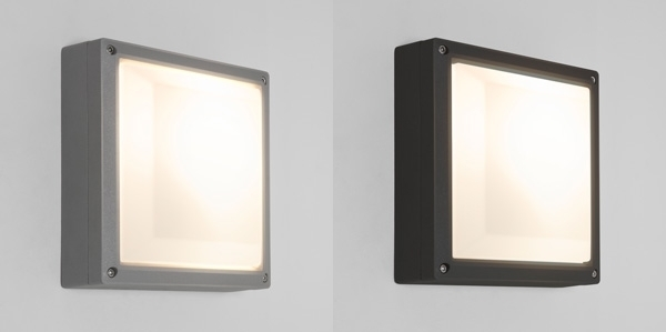 Astro Arta Square External Exterior Wall Light 15W Cfl E27 Silver regarding Square Outdoor Wall Lights (Image 3 of 10)