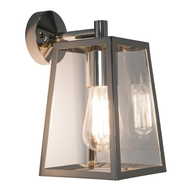 Astro Calvi Outdoor Hanging Lantern Wall Light - Polished Nickel with Nickel Polished Outdoor Wall Lighting (Image 2 of 10)