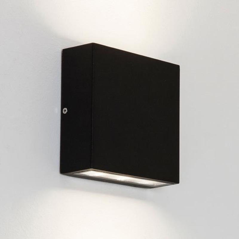 Astro 'elis Single' Ip54 Led Outdoor Wall Light, Black - 7201 From with regard to Outdoor Wall Down Lighting (Image 3 of 10)