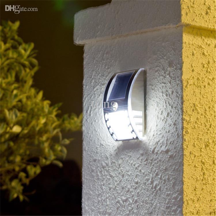 Attractive Solar Wall Lights For Garden Powered Mount 2 Throughout throughout Outdoor Wall Solar Lighting (Image 2 of 10)