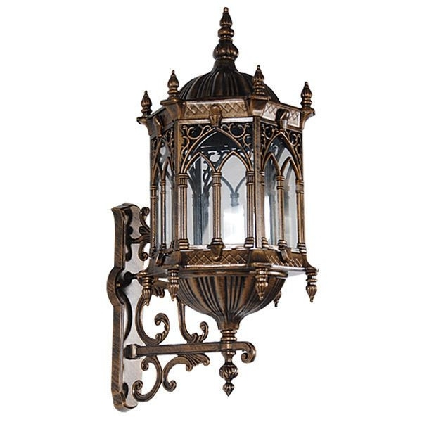 Awesome Bronze Finish Metal/glass Wall Light Fixture With Regard To Gothic Outdoor Wall Lighting (View 5 of 10)