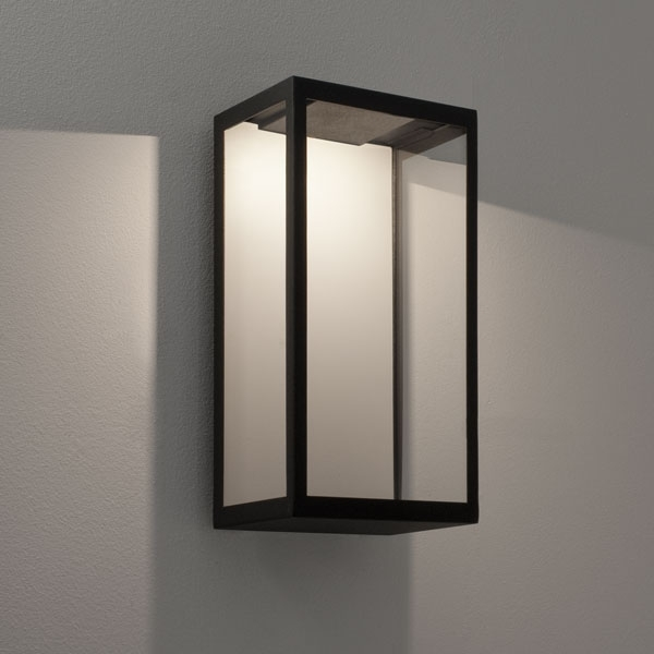 Ax0931 - Puzzle Outdoor Wall Led Light In Black With Clear Glass, 3W with regard to Black Outdoor Led Wall Lights (Image 3 of 10)