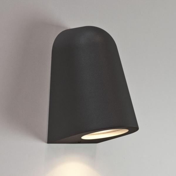 Ax7178 - Mast Black Surf Wall Light Ip65 Rated 35W Gu10 For Outdoor regarding Ip65 Outdoor Wall Lights (Image 3 of 10)