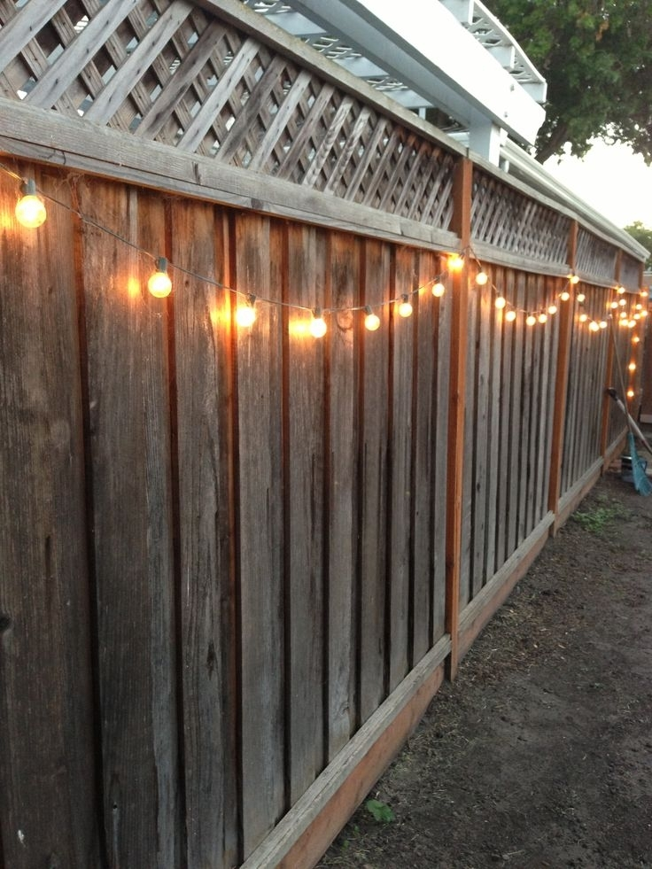 Backyard Wall Lights » Photo Gallery Backyard pertaining to Hanging Outdoor Lights On Fence (Image 3 of 10)