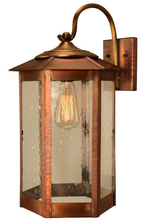 Baja Mission Style Wall Light Copper Lantern | Copper Lantern, Brass with Mission Style Outdoor Wall Lighting (Image 4 of 10)