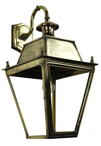 Balmoral Large Brass Replica Victorian Downward Outdoor Wall Lantern With Victorian Outdoor Wall Lighting (View 6 of 10)