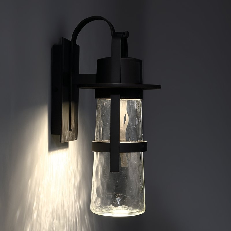 Balthus Led Outdoor Wall Lantern & Reviews | Allmodern inside Outdoor Wall Light Glass (Image 4 of 10)