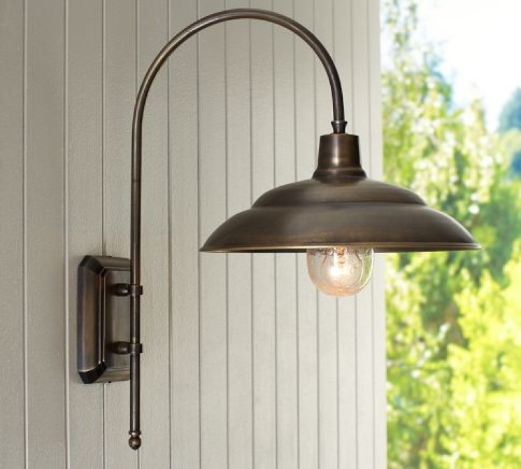 Barnham Sconce Traditional Outdoor Wall Lights And, Pottery Barn with Pottery Barn Outdoor Wall Lighting (Image 1 of 10)