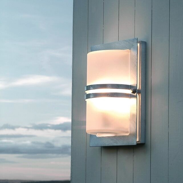 Basel Exterior Wall Light - Stainless Steel - Lighting Direct with Stainless Steel Outdoor Wall Lights (Image 2 of 10)