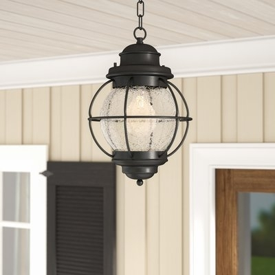 Beachcrest Home Cason 1-Light Outdoor Hanging Lantern & Reviews with Outdoor Hanging Lanterns (Image 2 of 10)