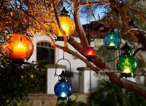 Beautiful Outdoor Hanging Lanterns Chained In Ideas 9 pertaining to Outdoor Hanging Tree Lanterns (Image 1 of 10)