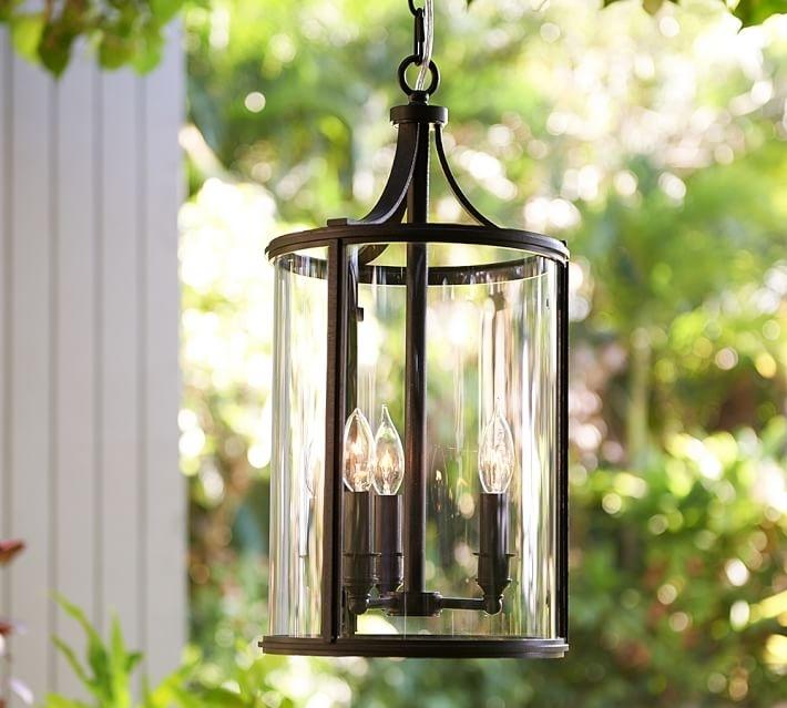 Belden Indoor/outdoor Pendant | Pottery Barn within Indoor Outdoor Hanging Lights (Image 1 of 10)