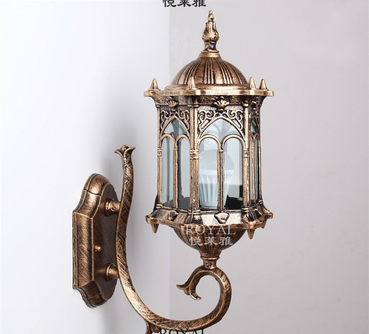 Best Simple European Outdoor Wall Sconce Lighting Vintage Antique regarding Antique Outdoor Wall Lighting (Image 7 of 10)