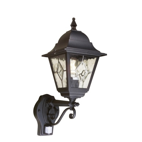 Black Outdoor Wall Lights | The Lighting Superstore within Pir Solar Outdoor Wall Lights (Image 3 of 10)