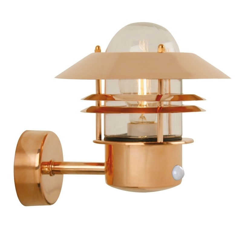 Blokhus Pir Wall Light - Copper - Lighting Direct regarding Copper Outdoor Wall Lighting (Image 1 of 10)