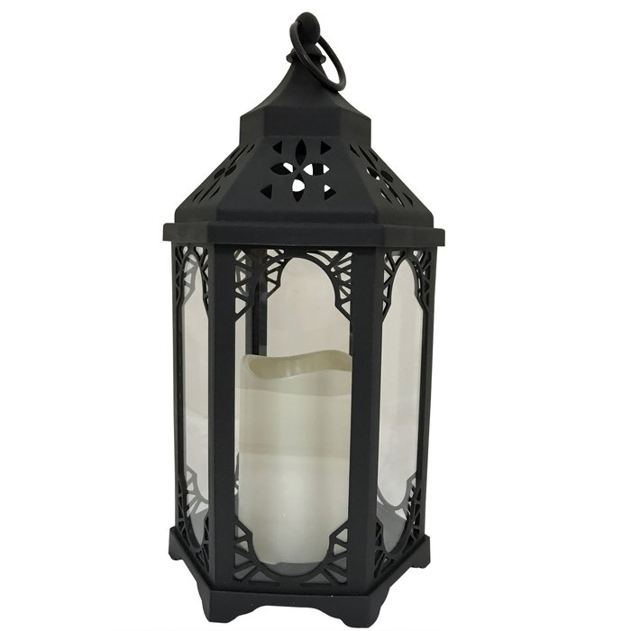 Bloomsbury Market Snehal Battery-Operated 1-Light Led Outdoor in Outdoor Hanging Lanterns With Battery Operated (Image 3 of 10)