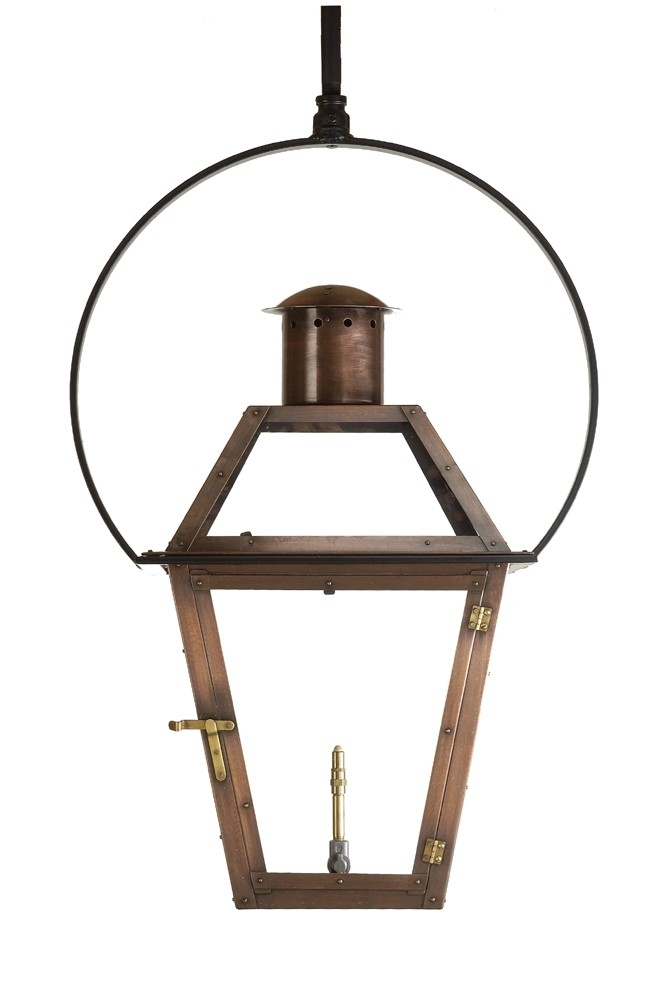 Bourbon Street Outdoor Lantern With Yoke Bracket - Gas Lanterns within Outdoor Hanging Gas Lights (Image 4 of 10)