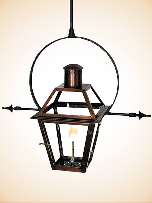 Bourbon Street Yoke With Ladder Racks | Exterior Paint Colors intended for Outdoor Hanging Gas Lights (Image 5 of 10)