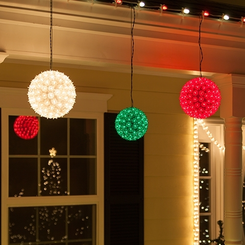Bright Idea Christmas Light Spheres Home Depot Diy Outdoor Sphere pertaining to Outdoor Hanging Christmas Light Balls (Image 2 of 10)