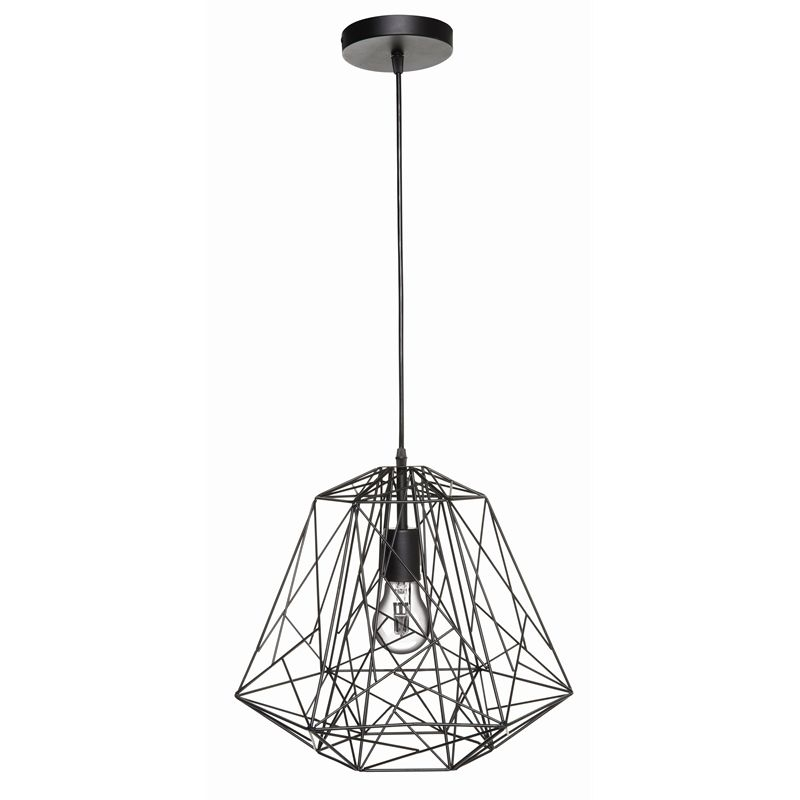 Brilliant 38.5Cm 60W Black Matrix Pendant Light I/n 7071354 intended for Outdoor Hanging Lights at Bunnings (Image 2 of 10)
