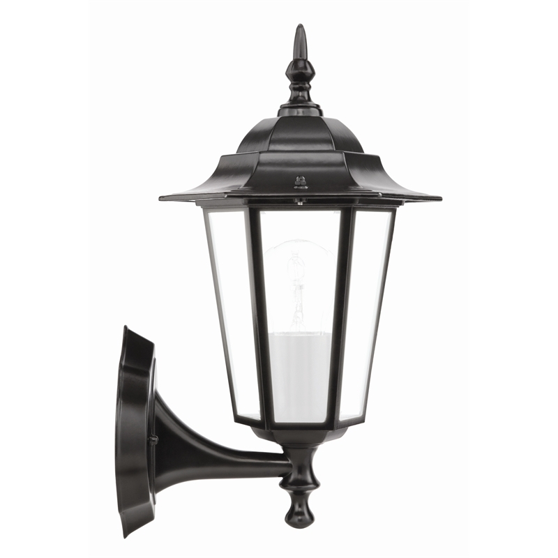 Brilliant 60W Nottingham Black Coach Exterior Wall Light | Bunnings for Outdoor Hanging Lights At Bunnings (Image 3 of 10)