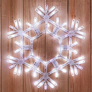 Buy Hanging Twinkle Snowflake – 20 Inch Cool White Outdoor Led For Outdoor Hanging Snowflake Lights (View 2 of 10)