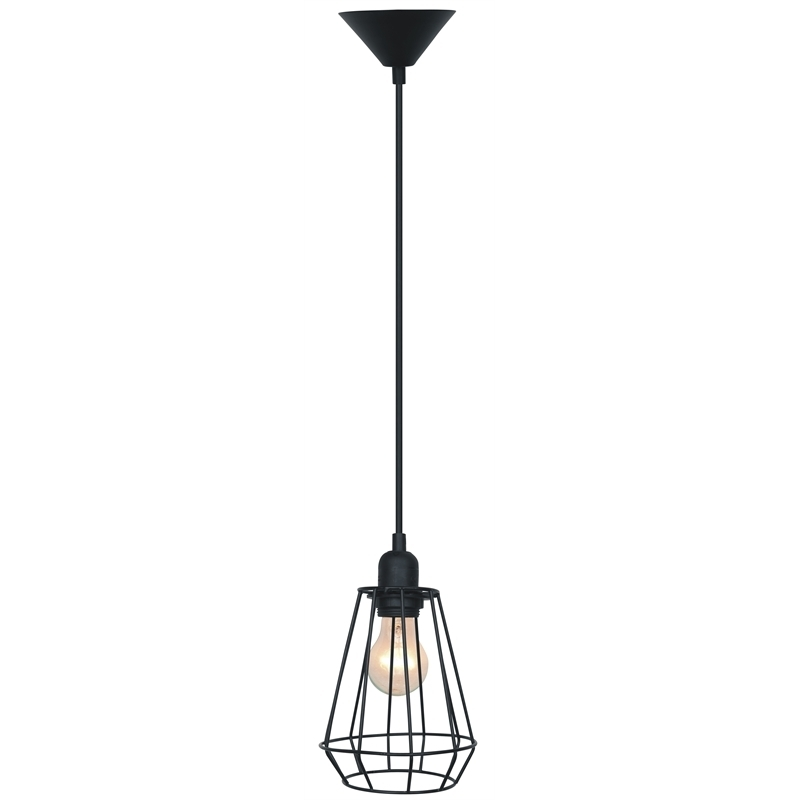 Cafe Lighting Chilli Metal Pendant Light 240V Wire Cage I/n 7071272 for Outdoor Hanging Lights At Bunnings (Image 4 of 10)