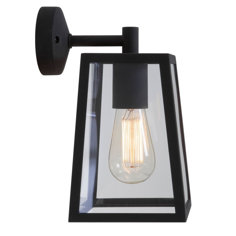 Calvi Wall Lantern - Black - Lighting Direct regarding Outdoor Hanging Wall Lanterns (Image 2 of 10)