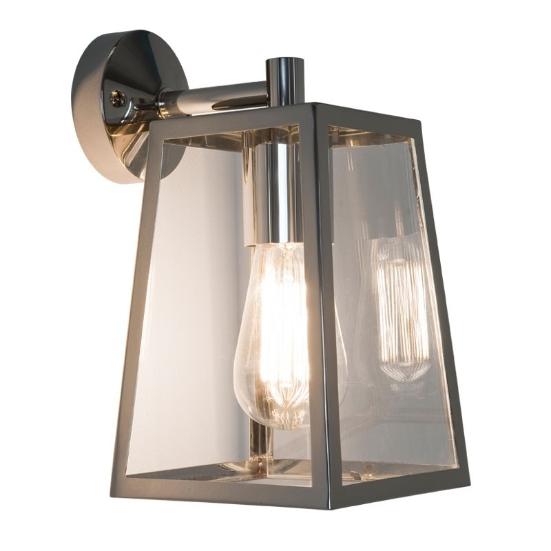 Calvi Wall Lantern - Polished Nickel - Lighting Direct with regard to Outdoor Wall Lantern Lights (Image 2 of 10)