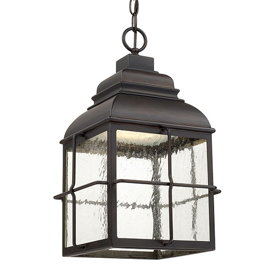 Capital Lanier Led Outdoor Hanging Light - Bronze 917832Ob-Ld with Led Outdoor Hanging Lights (Image 6 of 10)