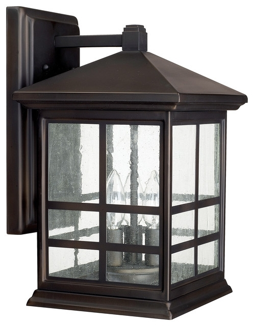 Capital Lighting 9912 3 Light Outdoor Wall Fixture - Craftsman in Craftsman Outdoor Wall Lighting (Image 1 of 10)