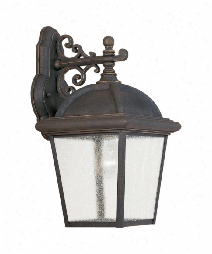 Capital Lighting 9913Mbz Preston 4 Light Outdoor Wall Light In for Outdoor Wall Lighting With Seeded Glass (Image 5 of 10)