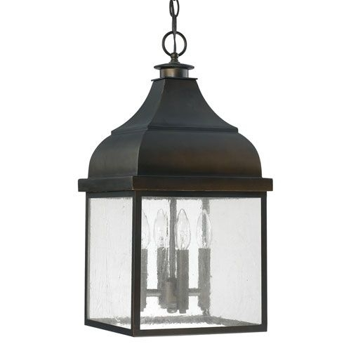 Capital Lighting Fixture Company Westridge Old Bronze Four-Light with regard to Antique Outdoor Hanging Lights (Image 6 of 10)