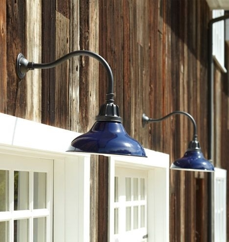 Carson Gooseneck Wall Sconce | Wall Fixtures, Warehouse And Wall Mount within Outdoor Gooseneck Wall Lighting (Image 3 of 10)