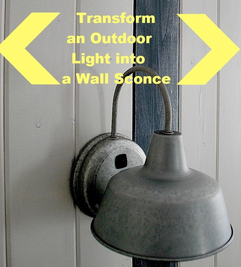 Catchy Diy Wall Sconce Add Diy Switches To Outdoor Sconces To Make within Diy Outdoor Wall Lights (Image 5 of 10)