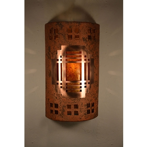 Cds Lighting Studio Copper Brick One Light 14 Inch Tall Dark Sky Pertaining To Dark Sky Outdoor Wall Lighting (View 3 of 10)